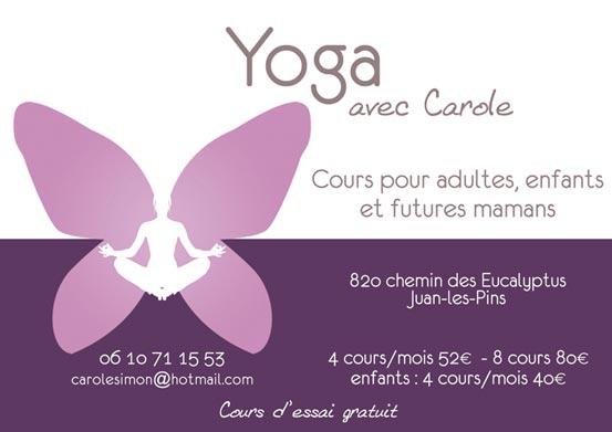 Carte de visite Yoga - Création de carte de visite