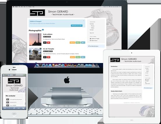 Site internet Simon Gérard