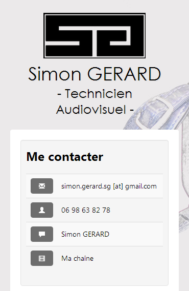 Site Internet Simon Gérard